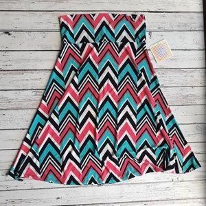 NWT LULAROE Azure Zig Zag Pattern Skirt Size M